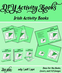 Zen PLR DFY Irish Activity Books Front Cover