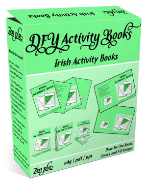 Zen PLR DFY Irish Activity Books Product Cover