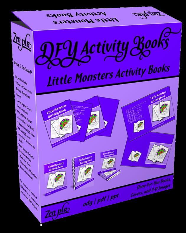 Zen PLR DFY Little Monsters Activity Books Product Cover