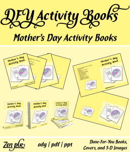 Zen PLR DFY Mothers Day Activity Books Front Cover
