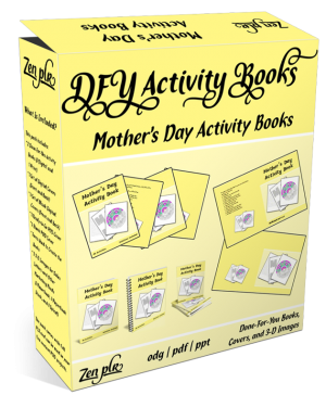 Zen PLR DFY Mothers Day Activity Books Product Cover