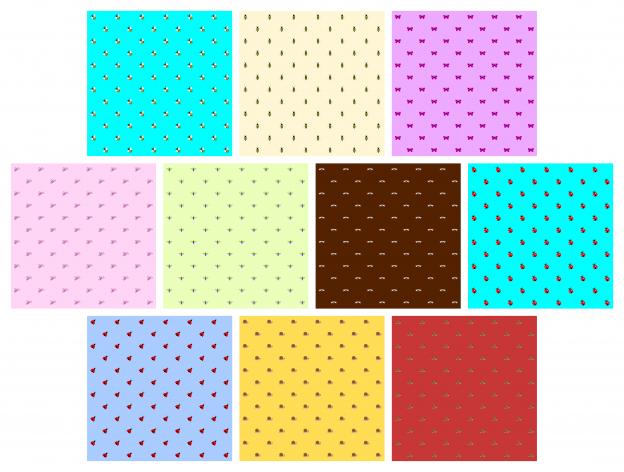 Zen PLR Digital Papers Pretty Bugs Volume 01 Small Designs