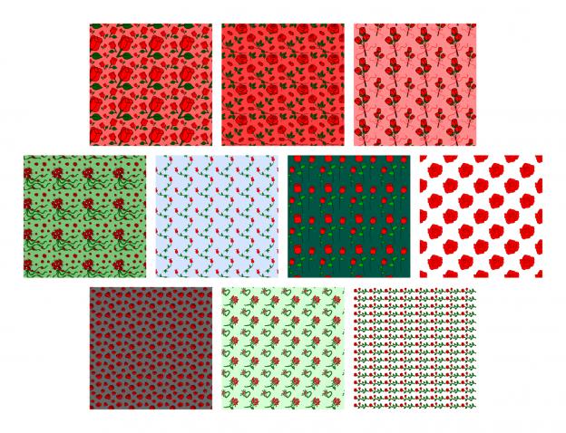 Zen PLR Digital Papers Sweet Roses Red All