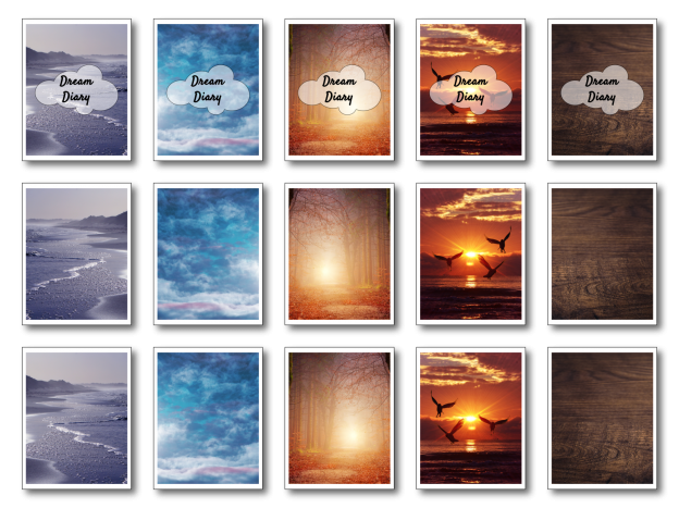 Zen PLR Dream Diary Kit Nature All Covers
