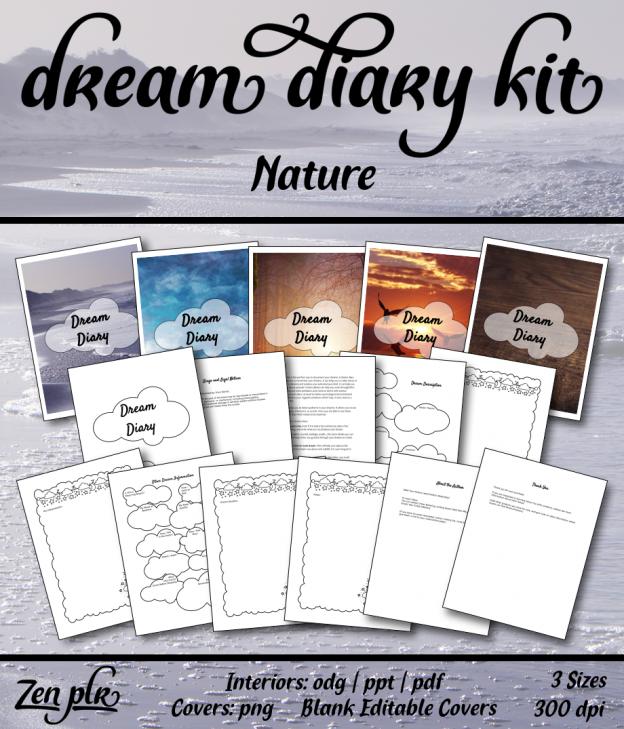 Zen PLR Dream Diary Kit Nature Front Cover