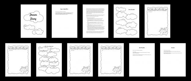 Zen PLR Dream Diary Kit Nature Interior No Backdrop