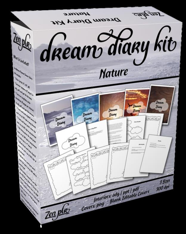 Zen PLR Dream Diary Kit Nature Product Cover