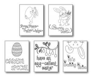 Zen PLR Easter Coloring Pages Sampler All