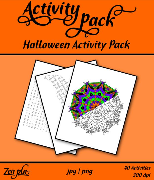 Zen PLR Halloween Activity Pack Front Cover
