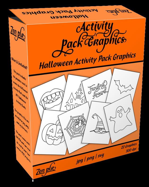Zen PLR Halloween Activity Pack Graphics Product Cover