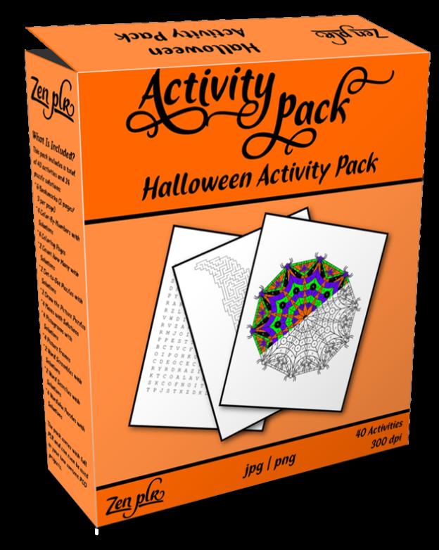 Zen PLR Halloween Activity Pack Product Cover
