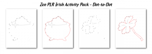 Zen PLR Irish Activity Pack Dot-to-Dot