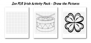 Zen PLR Irish Activity Pack Draw the Picture