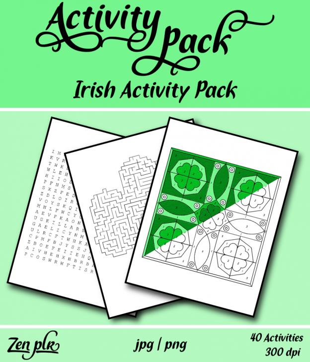 Zen PLR Irish Activity Pack Front Cover