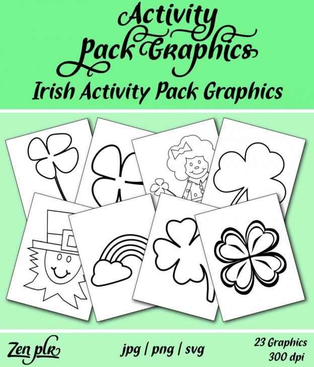 Zen PLR Irish Activity Pack Graphics Front Cover