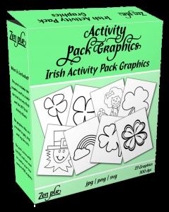 Zen PLR Irish Activity Pack Graphics Product Cover