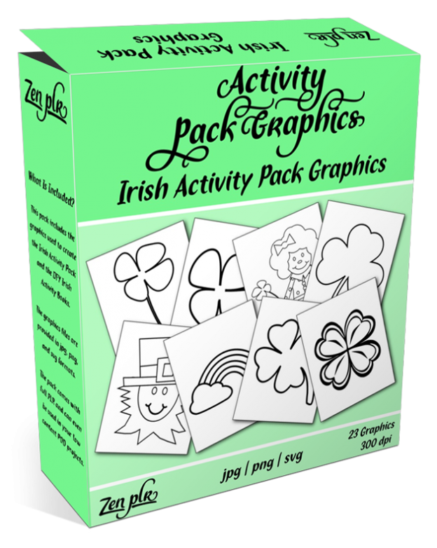 Zen PLR Irish Activity Pack Graphics Product Cover
