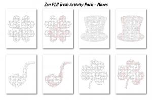 Zen PLR Irish Activity Pack Mazes