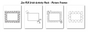 Zen PLR Irish Activity Pack Picture Frames