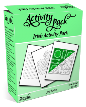Zen PLR Irish Activity Pack Product Cover