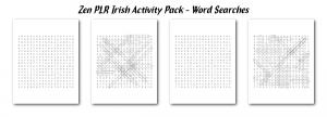 Zen PLR Irish Activity Pack Word Searches