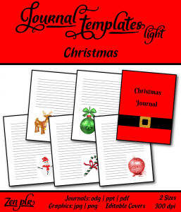 Zen PLR Journal Templates Light Christmas Front Cover