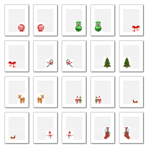 Zen PLR Journal Templates Light Christmas Journal Pages Full Color Digital Version