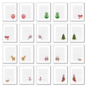 Zen PLR Journal Templates Light Christmas Journal Pages Full Color Print Version
