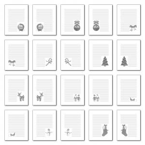 Zen PLR Journal Templates Light Christmas Journal Pages Grayscale Digital Version