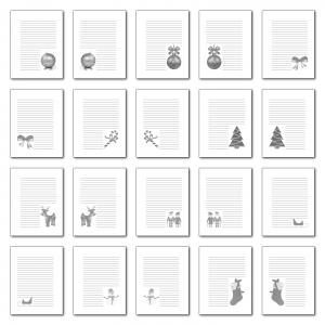 Zen PLR Journal Templates Light Christmas Journal Pages Grayscale Print Version
