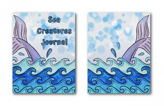 Zen PLR Journal Templates Light Sea Creatures Journal Covers