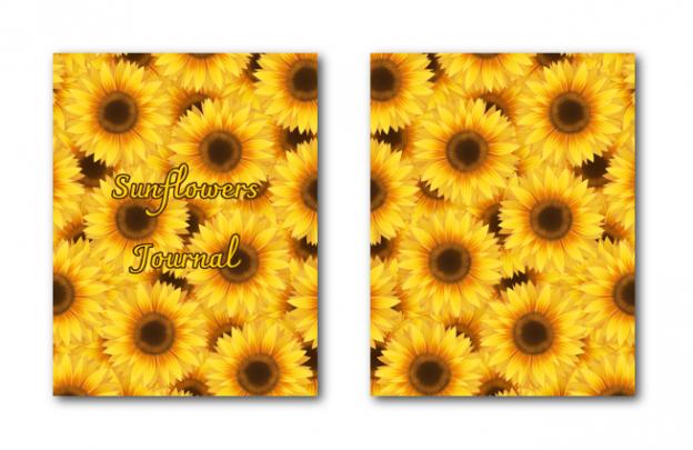 Zen PLR Journal Templates Light Sunflowers Journal Covers