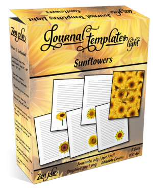 Zen PLR Journal Templates Light Sunflowers Product Cover