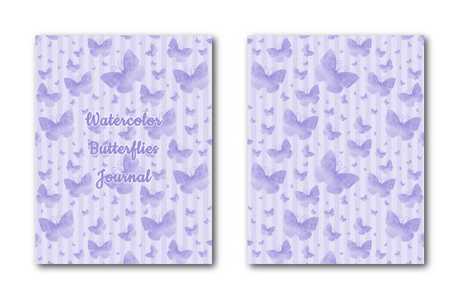 Zen PLR Journal Templates Light Watercolor Butterflies Light Purple Journal Covers