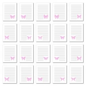 Zen PLR Journal Templates Light Watercolor Butterflies Pink Digital Journal Pages