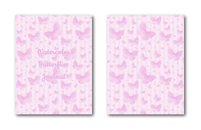 Zen PLR Journal Templates Light Watercolor Butterflies Pink Journal Covers