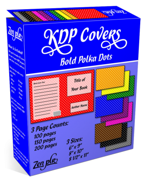Zen PLR KDP Covers Bold Polka Dots Product Cover