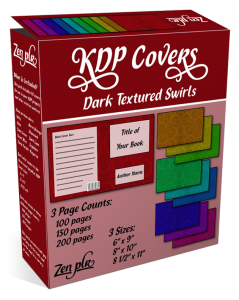 Zen PLR KDP Covers Dark Textured Swirls Product Cover