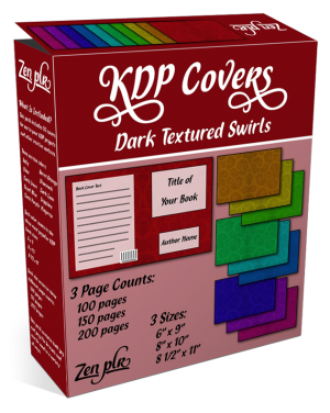 Zen PLR KDP Covers Dark Textured Swirls Product Cover