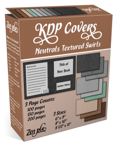 Zen PLR KDP Covers Neutrals Textured Swirls Product Cover