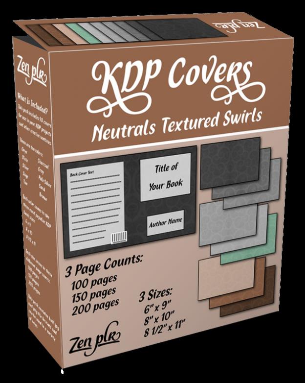 Zen PLR KDP Covers Neutrals Textured Swirls Product Cover