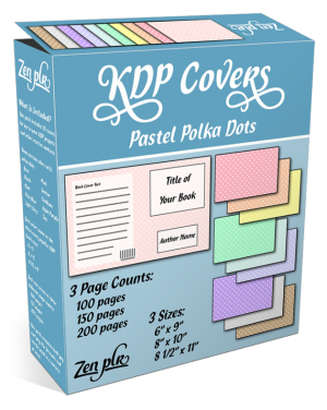 Zen PLR KDP Covers Pastel Polka Dots Product Cover