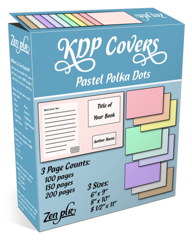 Zen PLR KDP Covers Pastel Polka Dots Product Cover