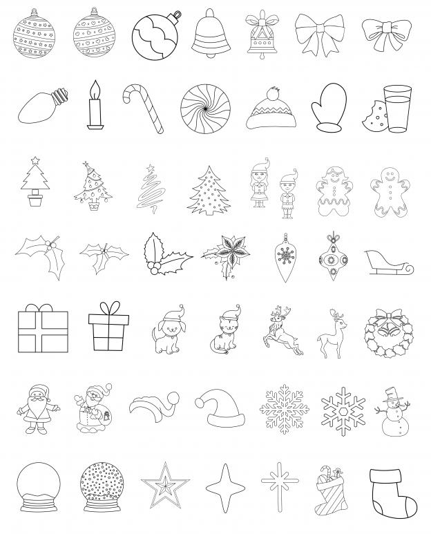 Zen PLR Line Designs Christmas All Clipart