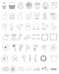 Zen PLR Line Designs Easter All Clipart