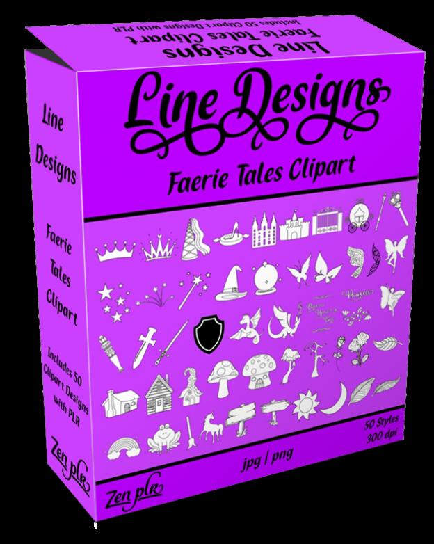 Zen PLR Line Designs Faerie Tales Clipart Product Cover