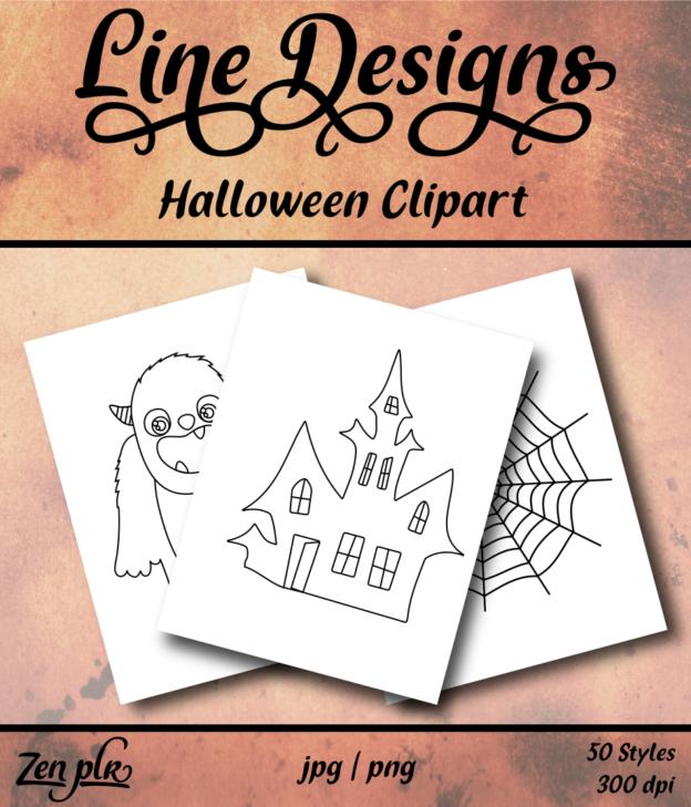 Zen PLR Line Designs Halloween Front Cover