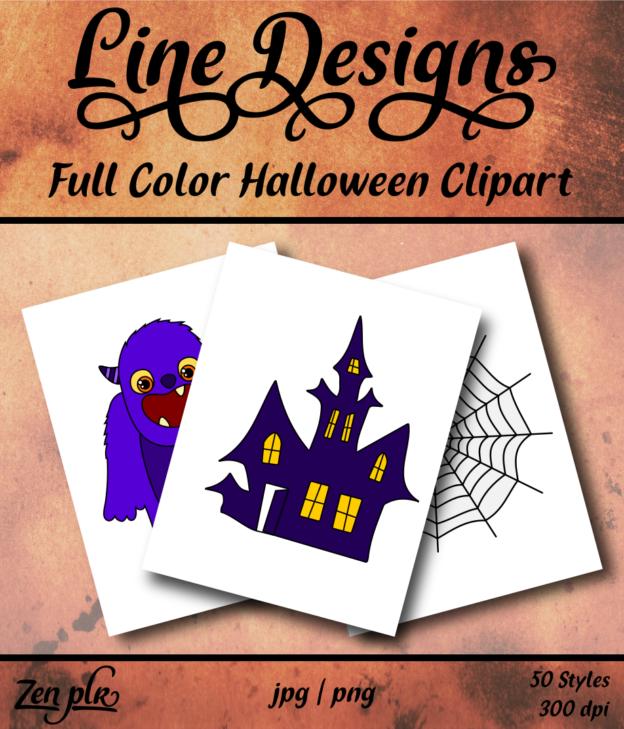 Zen PLR Line Designs Halloween Full Color Front Cover