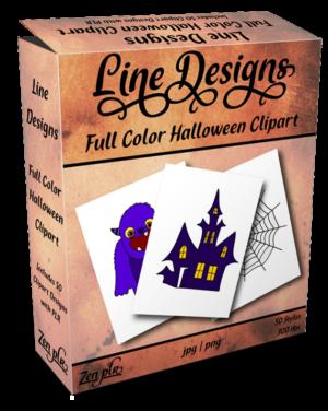 Zen PLR Line Designs Halloween Full Color Product Cover