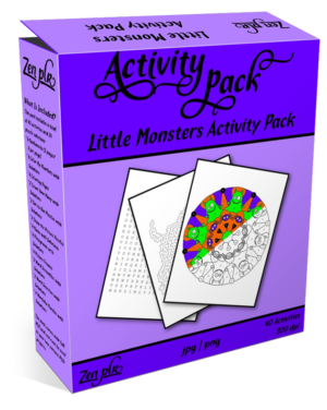 Zen PLR Little Monsters Activity Pack Product Cover
